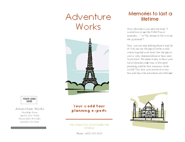 travel paris brochure